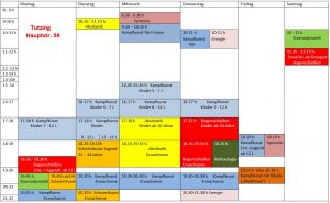 Stundenplan Tutzing