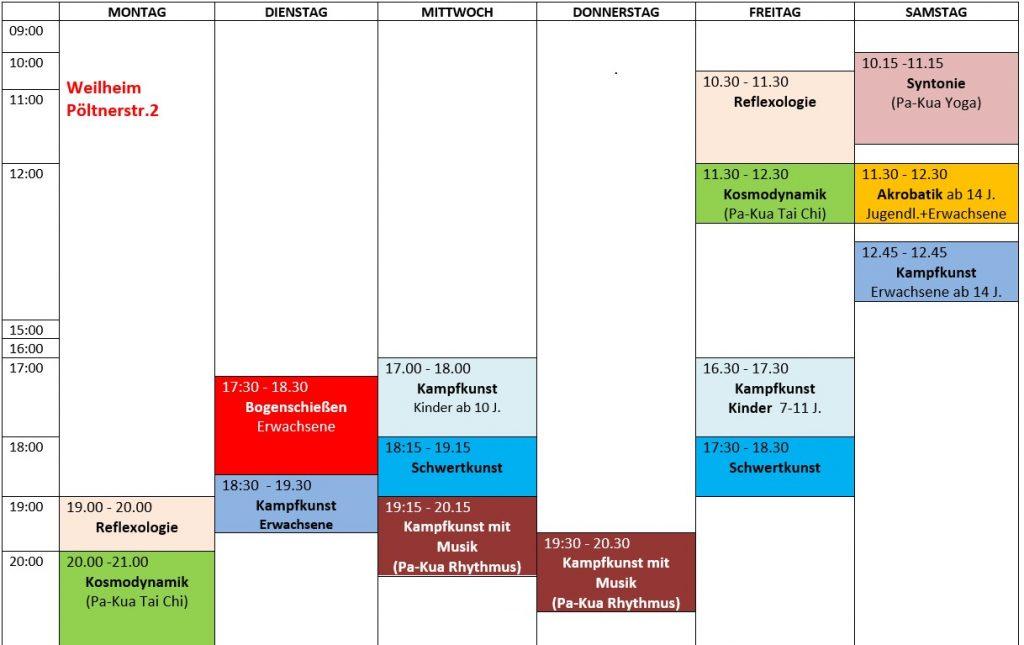 Stundenplan Weilheim
